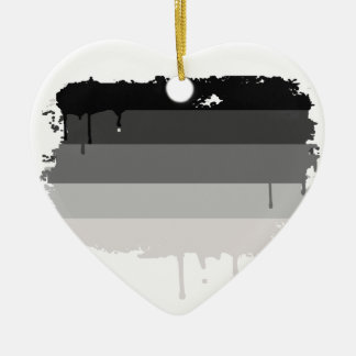 Straight Pride Colors Double-Sided Heart Ceramic Christmas Ornament