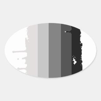 Straight Pride Colors Oval Sticker