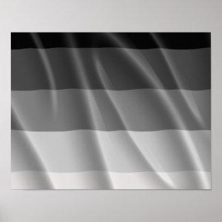 STRAIGHT PRIDE FLAG WAVY DESIGN PRINT