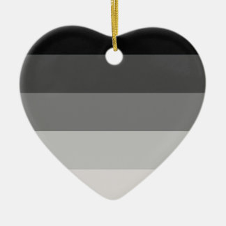 Straight Pride Double-Sided Heart Ceramic Christmas Ornament