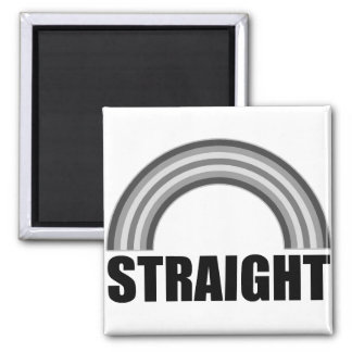 Straight Pride Rainbow 2 Inch Square Magnet