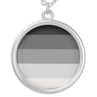 Straight Pride Round Pendant Necklace