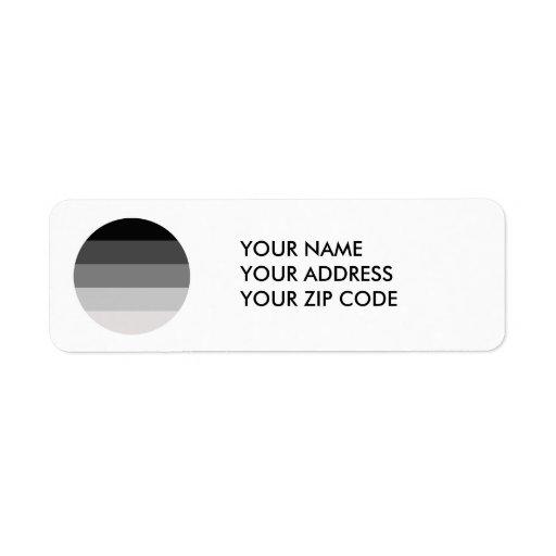 Straight Pride Round Return Address Label