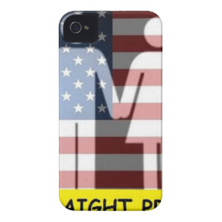 Straight Pride w flag Case-Mate iPhone 4 Case