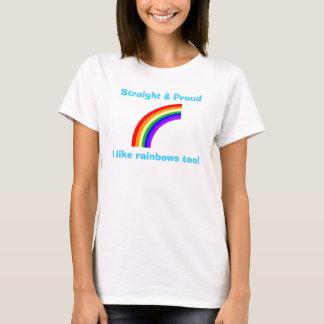 Straight & Proud Rainbow T-shirt