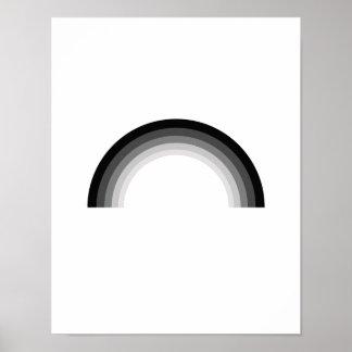 Straight Rainbow png Print