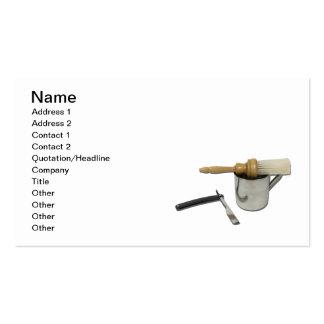 Straight Razor Brush Mug Business Card