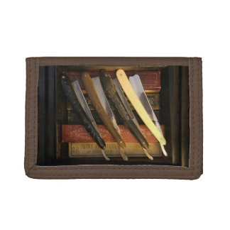 Straight Razor Collector Gift! Trifold Wallets