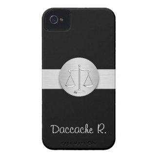 straight, round, silver, Livra, attorney, avocat, iPhone 4 Case-Mate Case