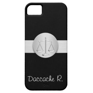 straight, round, silver, Livra, attorney, avocat, iPhone SE/5/5s Case