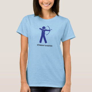 Straight Shooter (Blue Archer) ladies T T-Shirt