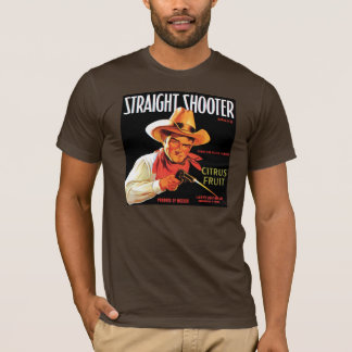 Straight Shooter brown T-Shirt