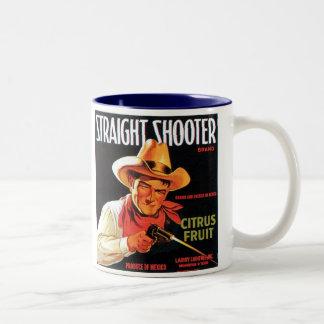 Straight Shooter Citrus Fruit Vintage Crate Label Coffee Mug