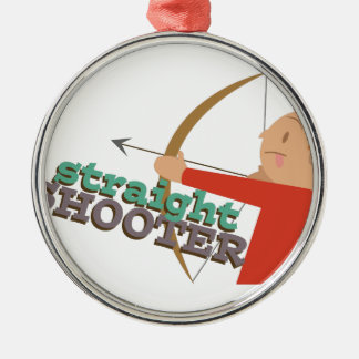 Straight Shooter Metal Ornament