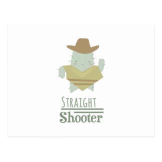 Straight Shooter Postcard