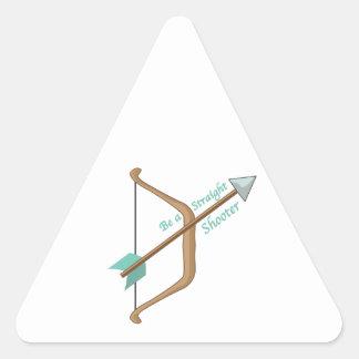 Straight Shooter Triangle Sticker
