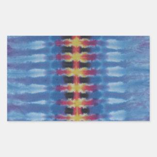 Straight Spine Tie Dye PhatDyes Rectangular Sticker