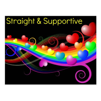 Straight Supportive Post Card