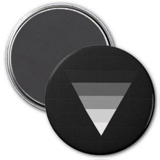 Straight Symbol 3 Inch Round Magnet