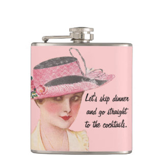 Straight To The Cocktails Flask