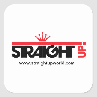 Straight Up! Square sticker