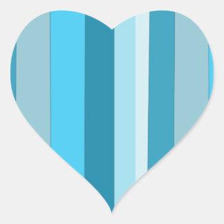 Straight Waves Heart Sticker
