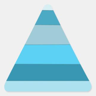Straight Waves Triangle Sticker