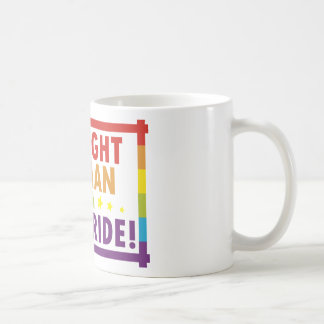 Straight Woman with Gay Pride Classic White Coffee Mug