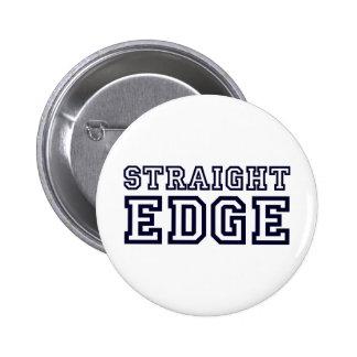 StraightEdge 2 Inch Round Button
