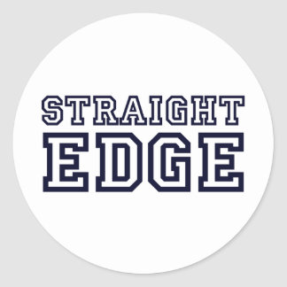 StraightEdge Classic Round Sticker
