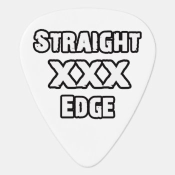 Straightedge Guitar Pick by KellyMagovern at Zazzle