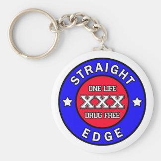 Straightedge keychain