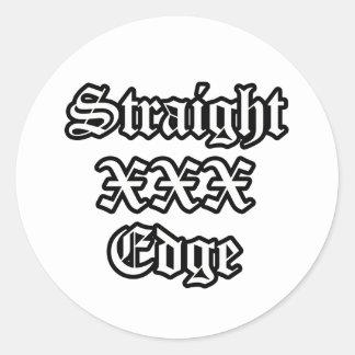 Straightedge Sticker