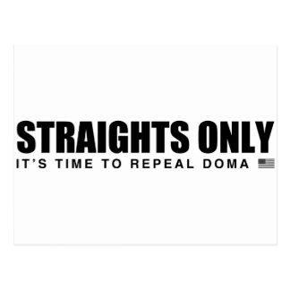 Straights solamente postales