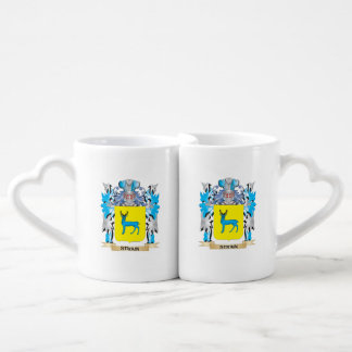 Strain Coat of Arms - Family Crest Couples' Coffee Mug Set
