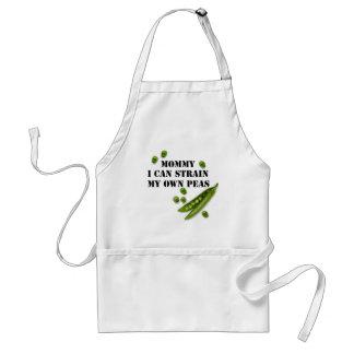 strained peas adult apron
