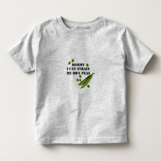 strained peas toddler t-shirt