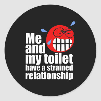 Strained Relationship Classic Round Sticker