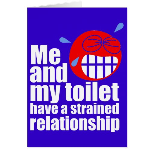 Strained Relationship Greeting Card | Zazzle