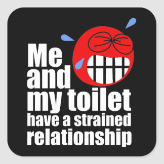 Strained Relationship Square Sticker