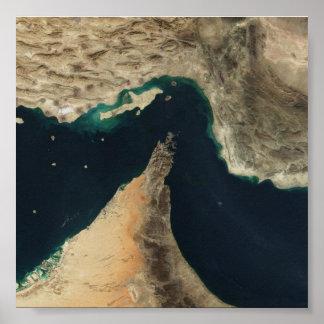 Strait of Hormuz Satellite Image Poster