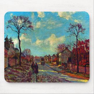 Strait Of Louveciennes art by Camille Pissarro Mouse Pad