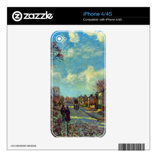 Strait of Louveciennes by Camille Pissarro Decal For The iPhone 4S