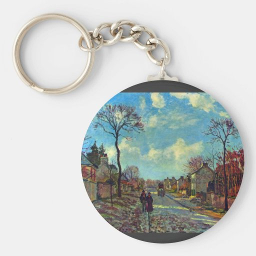 Strait of Louveciennes by Camille Pissarro Key Chains