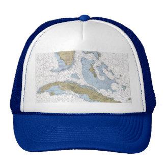 Straits Of Florida Nautical Chart Cap Trucker Hat