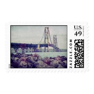Straits of Mackinac Postage Stamp