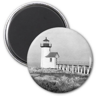Straitsmouth Island Lighthouse 2 Inch Round Magnet