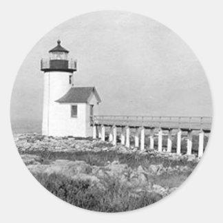 Straitsmouth Island Lighthouse Classic Round Sticker