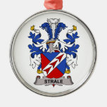 Strale Family Crest Christmas Ornament