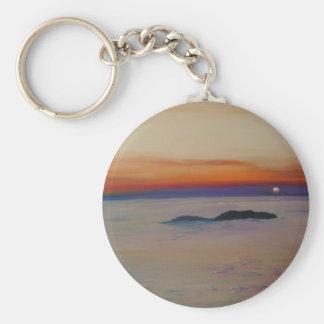 Strand mit Sonnenuntergang Keychain